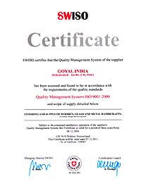 ISO 9001 2000 Certificate