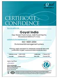 GOI001-CCE01 Certificate Of Confidence
