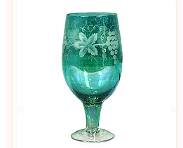 Hand Painted Wine Goblet