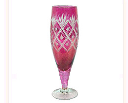 Hand Painted Glass Goblet