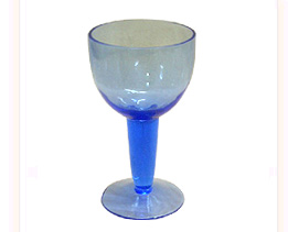 Glass Engraved Goblet