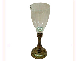 Plain Glass Hurricane Lamp