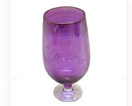 Glass Etched Goblet